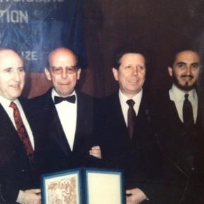 Premio Nobel de la Paz 1985, Oslo (Noruega): Doctores Bernard Lown, Velasco-Suarez, Evegeny Chazov y Alfredo Jalife-Rahme