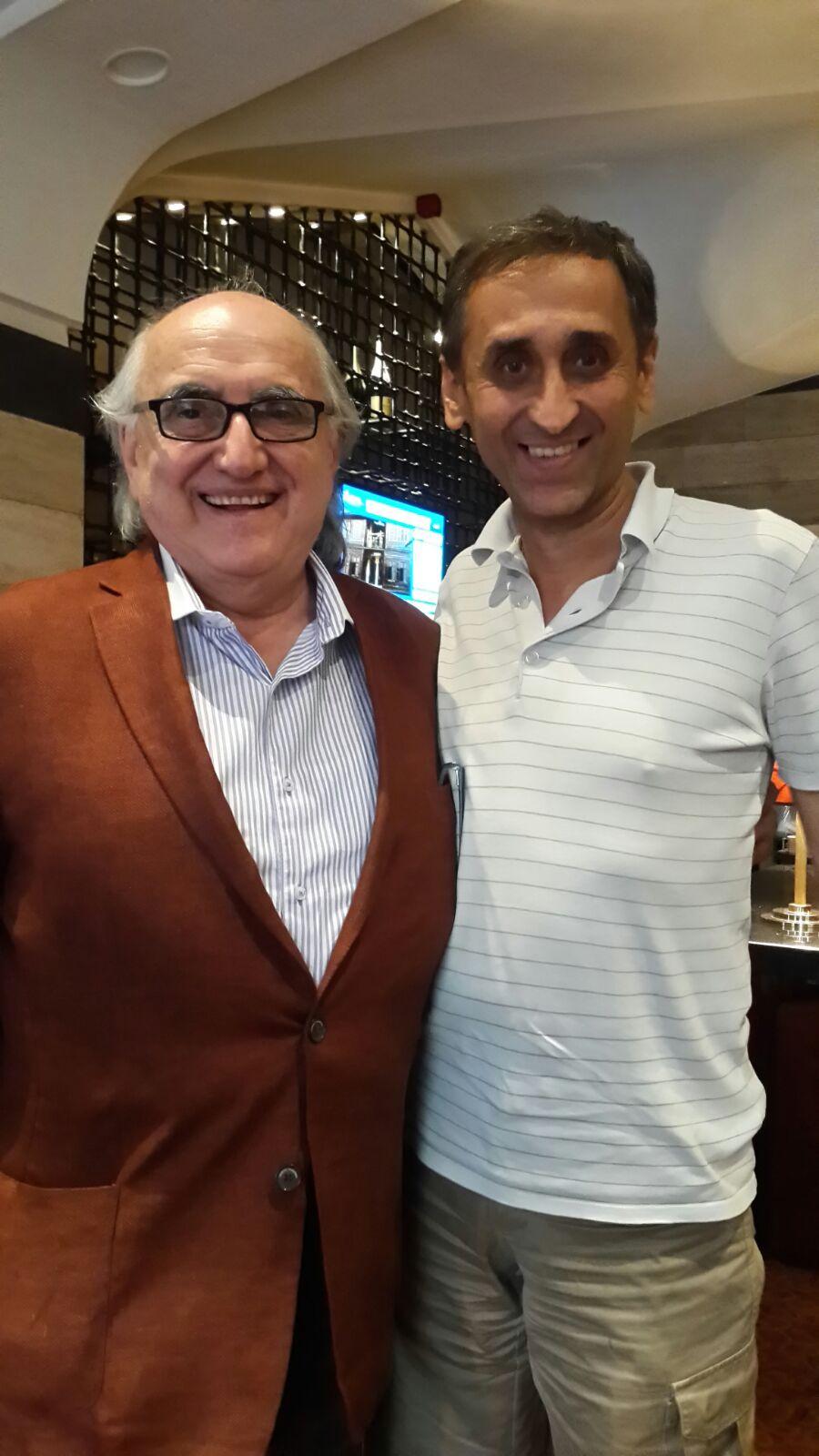 El Dr. Alfredo Jalife con Thierry Meyssan Presidente de Réseau Voltaire en Damasco(Siria)03.09.15