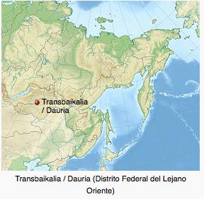 Mapa Trans-Baikal
